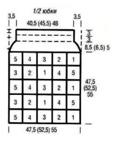 юбка из квадратов 4