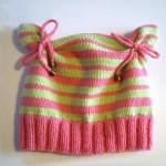 Детские шапки, вязанные спицами