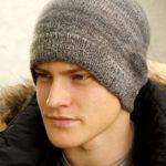 Мужские шапки спицами – 9 вариантов
