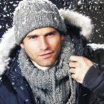 Мужские шапки спицами с отворотом — 6 вариантов с описанием, схемами и видео МК