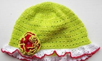 летняя шапочка крючком для девочки и мальчика мастер класс