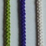 Вяжем шнур гусеничку крючком – 3 варианта вязания с описанием и МК