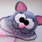 Детская шапка с ушками вязаная крючком — 4 модели с описанием и схемами