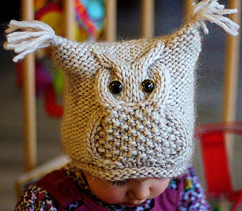 Красивые детские шапочки с узором Сова. - Рукоделие 977