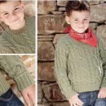 Вязанный спицами свитер для мальчика – 4 модели с описанием, схемами и видео мк