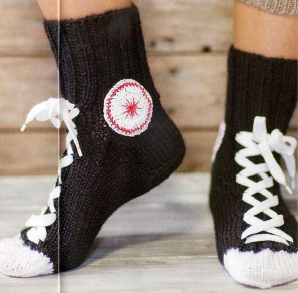 вязаные мужские носки необычные с описанием и видео для начинающих