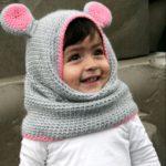 6 моделей шапочек для девочки крючком с описанием, схемами и видео