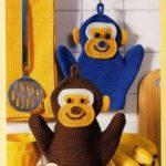 Как вязать крючком прихватки обезьянки
