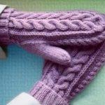 8 моделей рукавичек спицами для начинающих