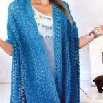 8 моделей ажурных шарфов крючком со схемами и описанием