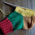 Вязание базовой модели носков на 5 спицах