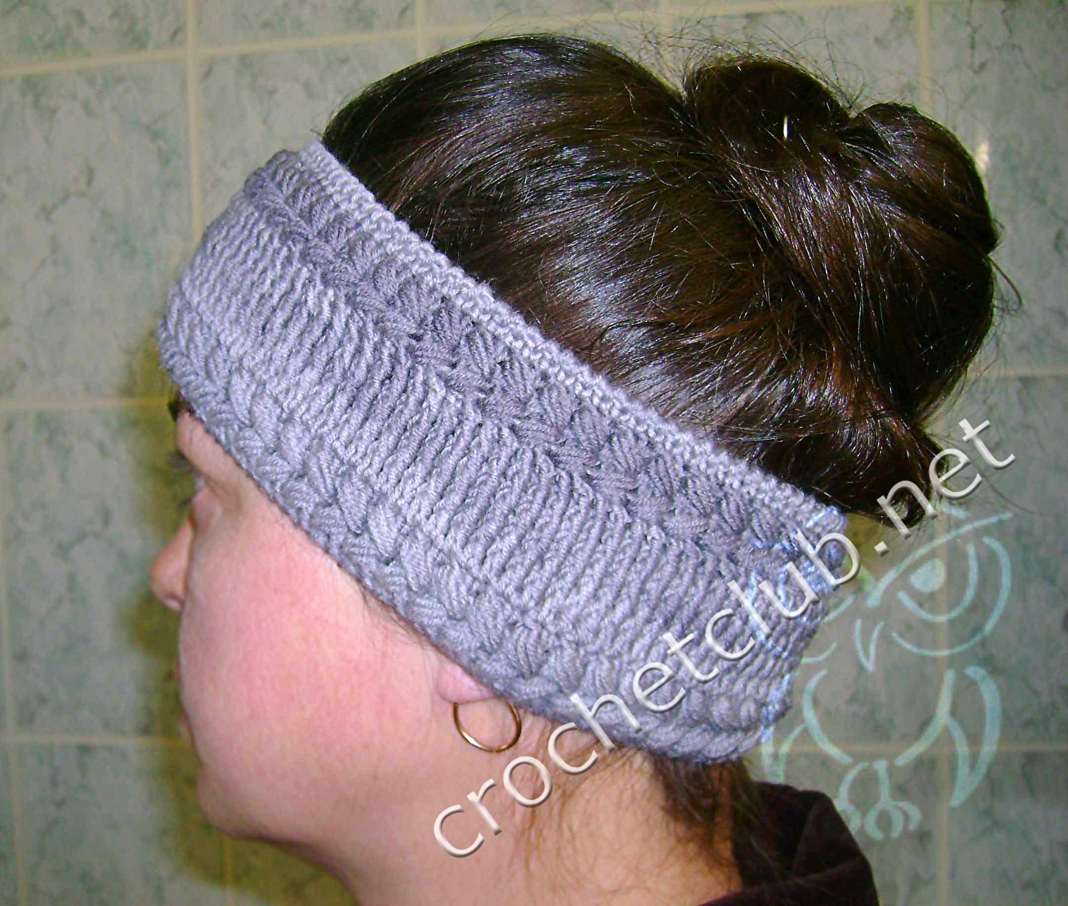 Вязание крючком повязки на голову для девочек с схемами