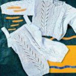 Вязание спицами костюмчика для новорожденного малыша