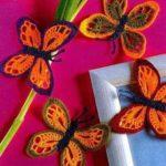 Бабочки крючком – 8 вариантов