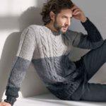 7 моделей мужских пуловеров спицами со схемами и описанием