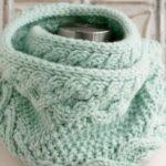 24 варианта шарфа снуд спицами с описаниями и схемами