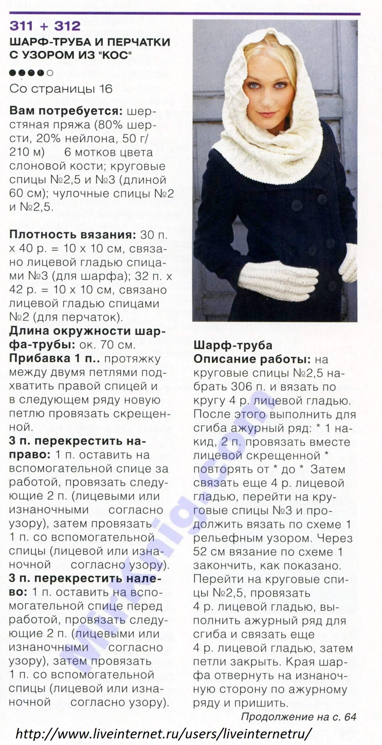 Снуд спицами для женщин: схемы вязания, новинки, узоры