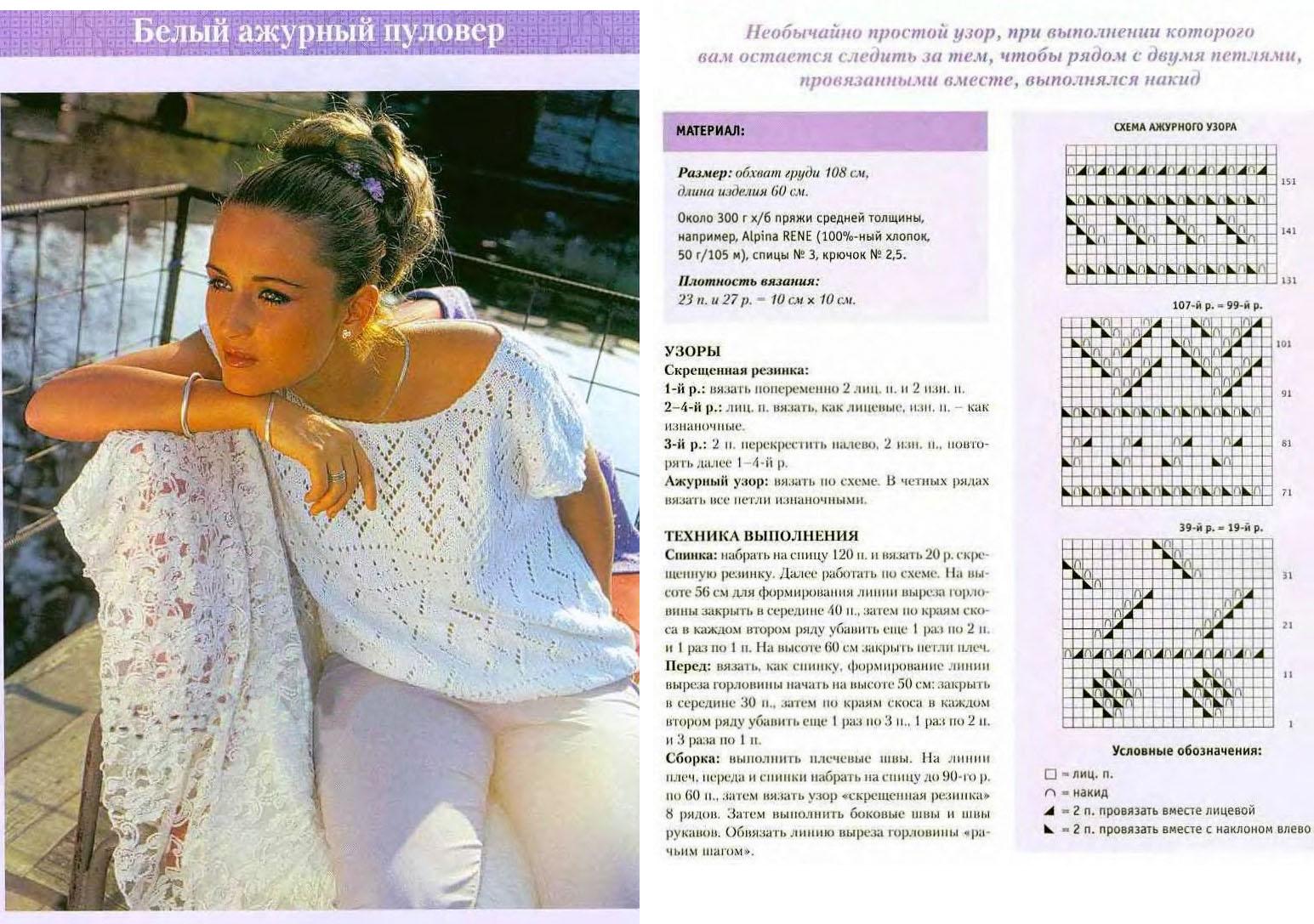 вязание летних кофточек спицами из хлопка со схемами 23 модели