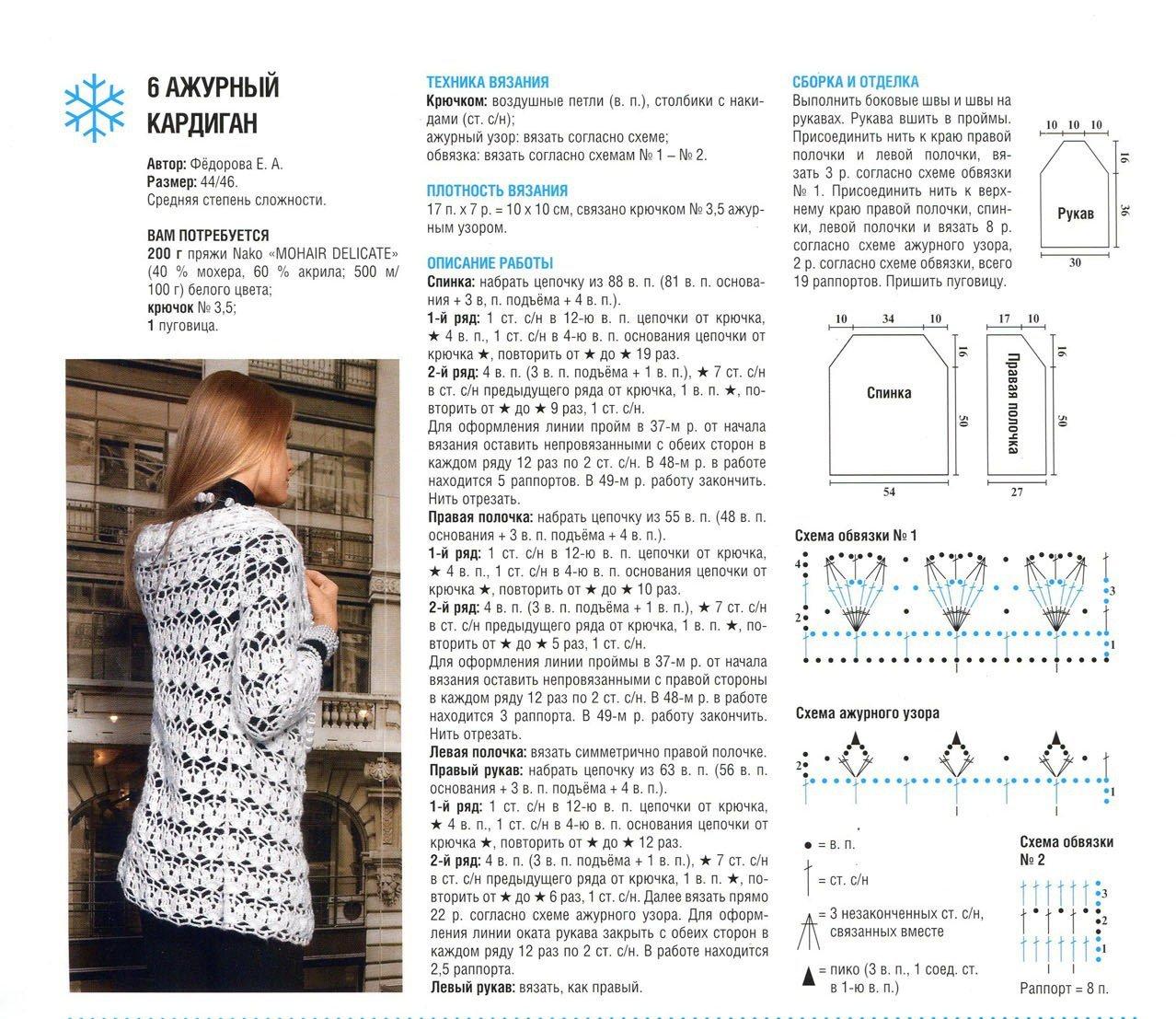 Образцы вязания кардиганов спицами 58