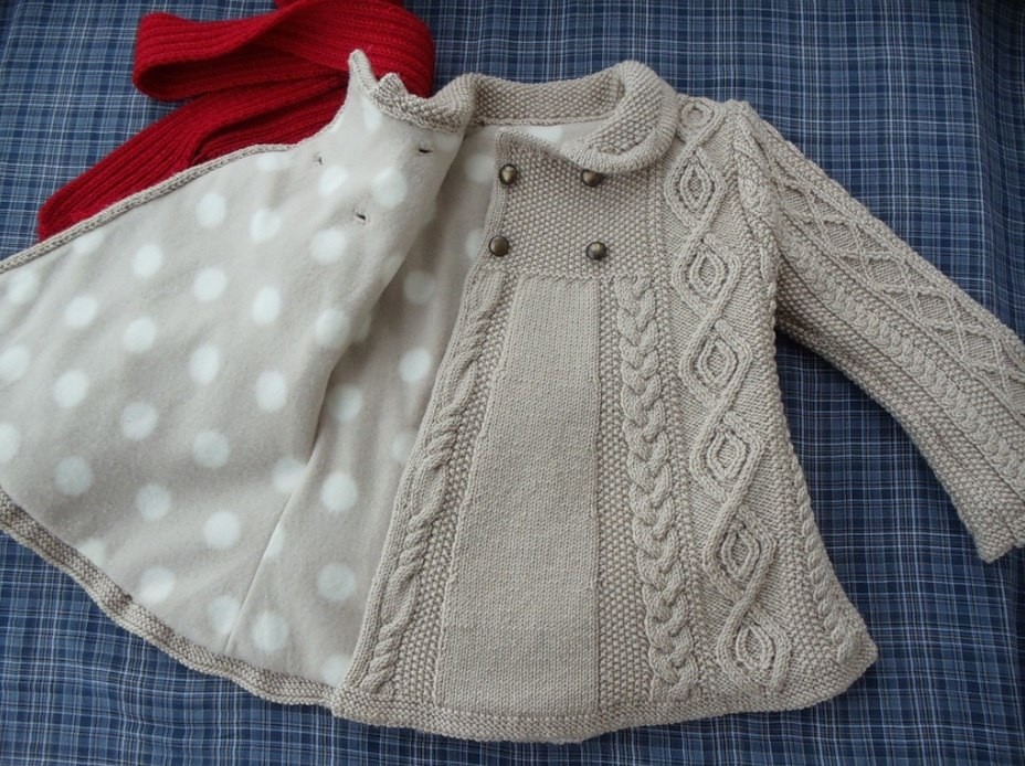 вязаное пальто для девочки со схемами описанием видео 7 моделей