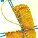 Как вязать пятку носков на спицах — 6 вариантов