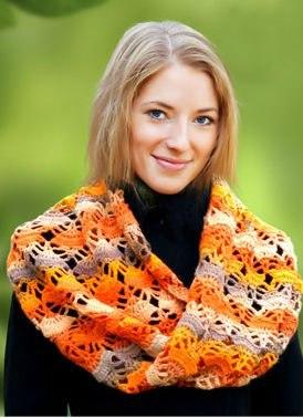 Вязание крючком схемы и описание шарфы
