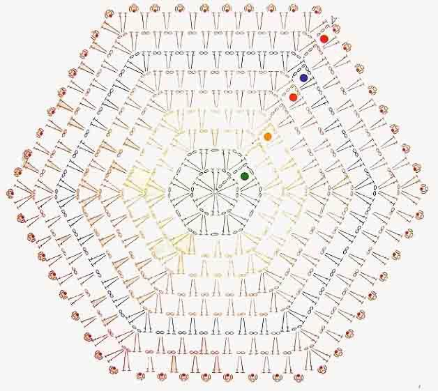 вязанные коврики в ванную комнату крючком 15 вариантов со схемами