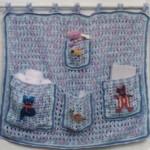 9 вариантов кармашков на детскую кроватку вязаных крючком со схемами, описанием и видео мк