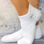 14 вариантов носков вязаных крючком со схемами, описанием и видео мк