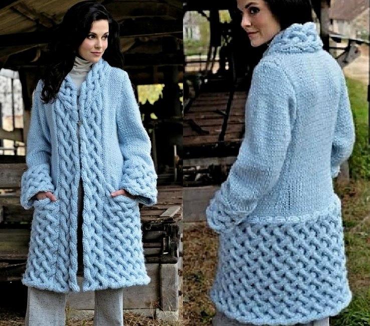 вязаное пальто спицами 19 моделей со схемами описанием и видео мк