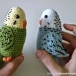 5 вариантов попугайчиков амигуруми вязаных крючком со схемами, описанием и видео мк