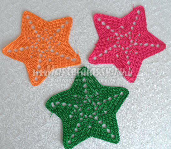 звезда крючком 11 моделей со схемами описанием и видео мк для
