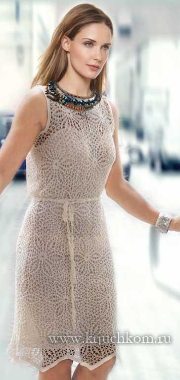 Вязание крючком платья для женщин со схемами фото 509