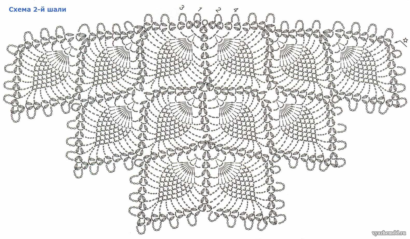 Схема шалей вязанных крючком фото 239