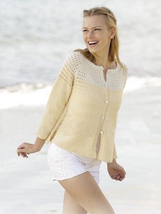 вязаная кофта спицами для женщин стильная 15 моделей со схемами