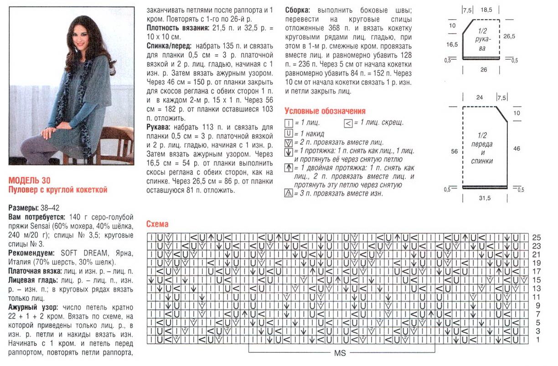 Схема для вязания из тонкого мохера