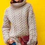 15 моделей вязанных свитеров для девушки со схемами, описанием, видео МК