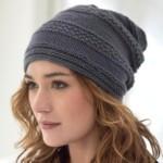 12 моделей женских шапок чулок вязаных спицами со схемами, описанием и видео мк