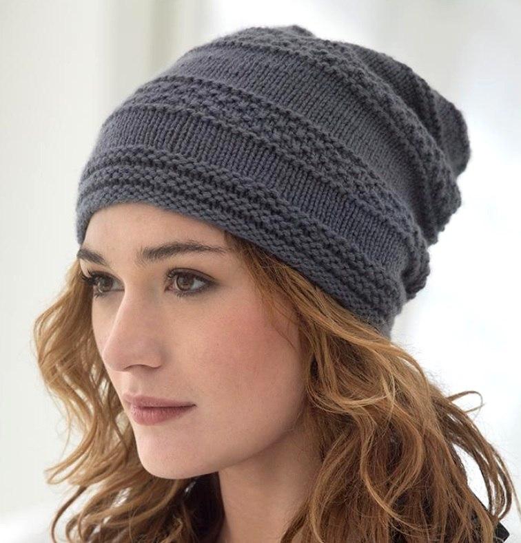 шапка чулок спицами 12 моделей со схемами вязания описанием и видео мк