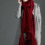 17 моделей шарфов из толстой пряжи спицами с описанием, схемами и видео МК