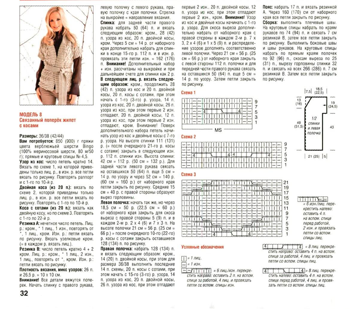 Вязание спицами жилеты и безрукавки для женщин больших размеров 35
