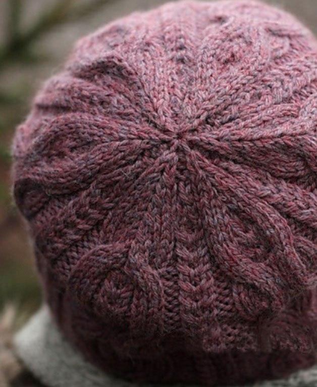 шапка вязаная косами спицами женская 18 моделей со схемами