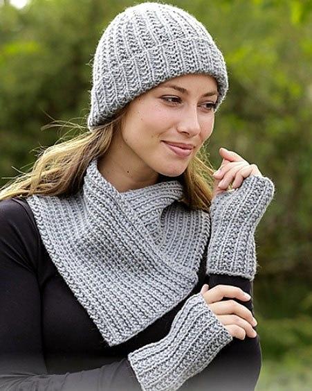 шарф воротник спицами с описанием 16 моделей в схемах и видео мк