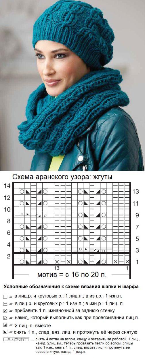 шарф спицами схемы и описание 26 оригинальных моделей