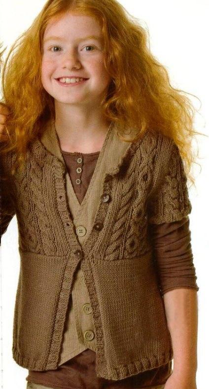 вязание для девочек спицами 16 моделей со схемами и описанием