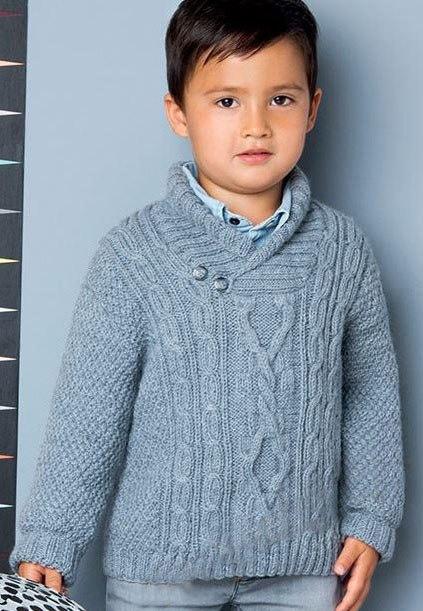 пуловер для мальчика спицами 16 моделей со схемами и описанием