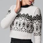 11 моделей женских джемперов вязанных спицами со схемами, описанием и видео МК