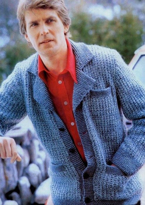 пиджак вязаный мужской спицами 4 модели со схемами и описанием