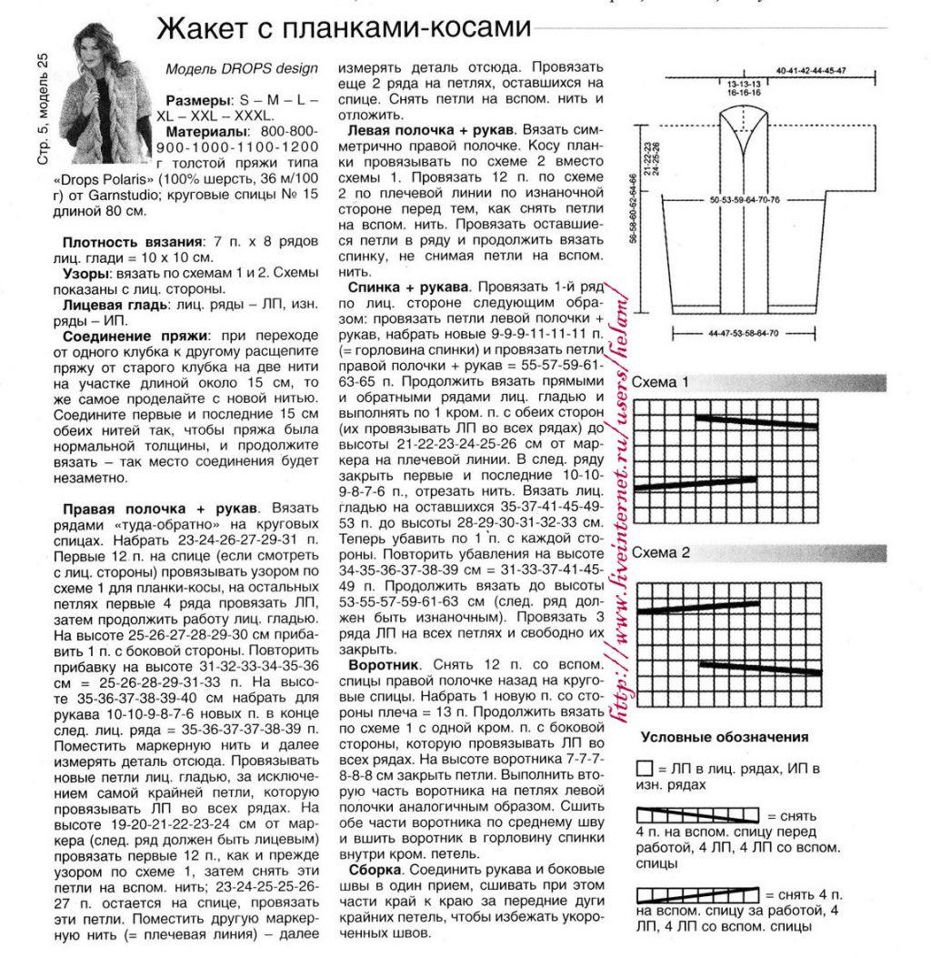 Кардиган спицами 35 моделей с описанием и схемами, Вязание 96