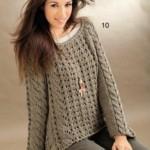 12 моделей пуловеров для женщин вязаных спицами со схемами, описанием и видео МК